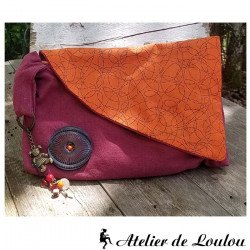 Achat rangement pochette orange multicolore