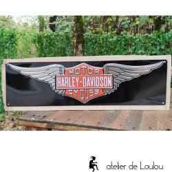 Grande plaque en métal Harley | tôle émail Harley