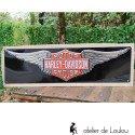 Plaque métal noir Harley Davidson