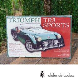 Acheter plaque émail Triumph collection voiture
