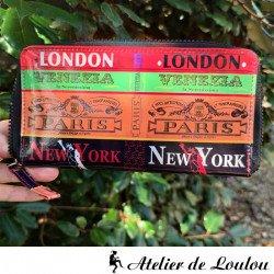 Acheter portefeuille pratique multicolore Paris London