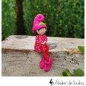 Gnome rose fushia assis