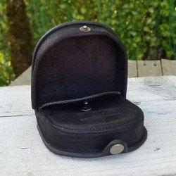 Porte monnaie cuir homme Arthur Aston marron vintage