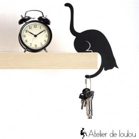 Déco chat | chat porte plante | chat noir | crochet déco