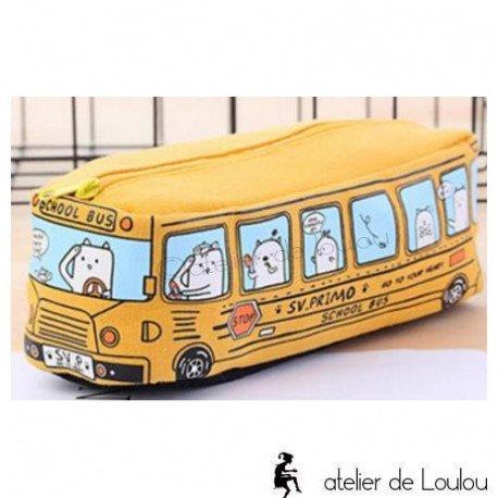 Achat trousse école | bus scolaire