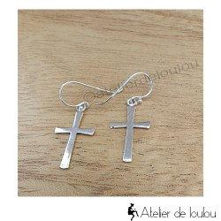 Achat bijou croix | Acheter boucles croix catholique