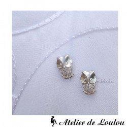 Acheter boucles oreilles chouettes | boucle oreille hibou