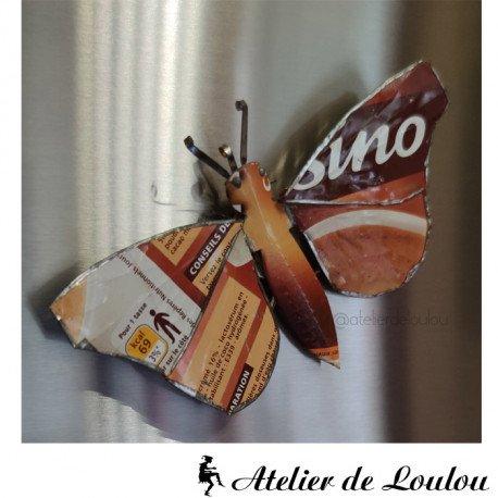 Achat magnet papillon en métal recyclé