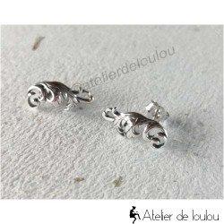 Acheter boucles oreilles baroque | boucle oreille feuillages