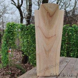 Acheter buste en bois pour colliers