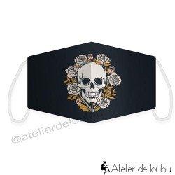 Masque tissu tête de mort skull adultes