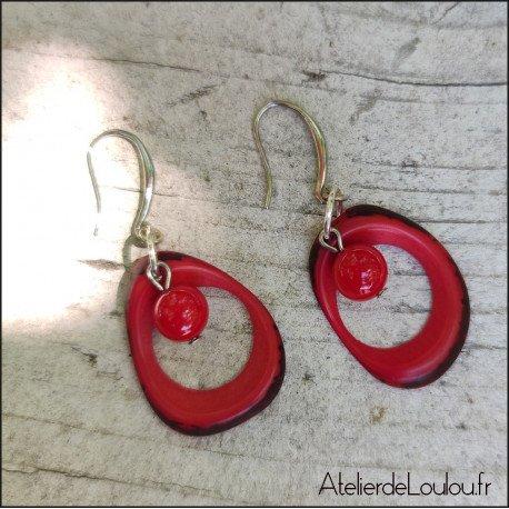 Acheter oucles oreilles rouges artisanales