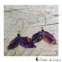 Boucles origami vol de papillons