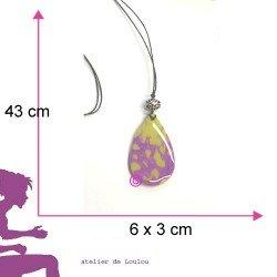 pendentif Vert anis violet