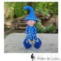 Elfe figurine déco bleu