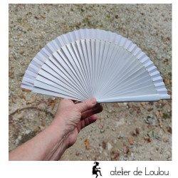 Acheter éventail espagnol blanc