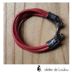 Acheter bracelet unisexe têtes de dragons