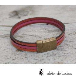 Achat bracelet cuir multi rangs