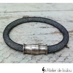 Acheter bracelet en résille noire