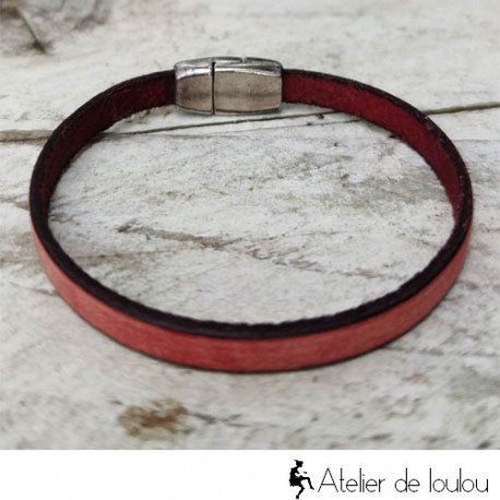 Acheter bracelet cuir tons vintage