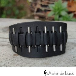 Achat bracelet réglable silicone noir
