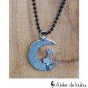 Collier un chat sur la lune