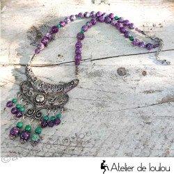 Acheter collier en perles naturelles fait main pièce unique