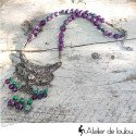 Collier ethnique perles naturelles