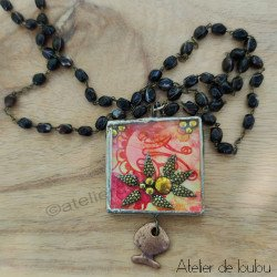 Achat bijou baroque| rosary french necklace