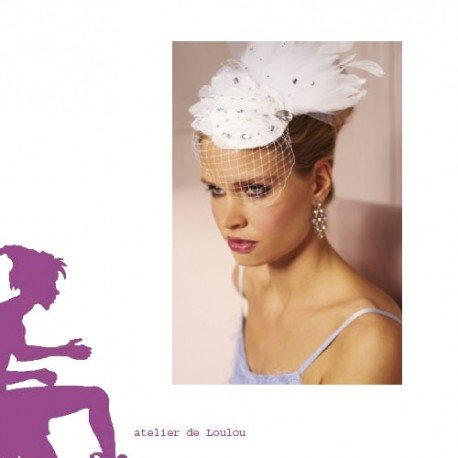 wedding hat | chapeau strass | chapeau mariée