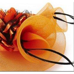 chapeau bibi orange   chapeau cérémonie mariage