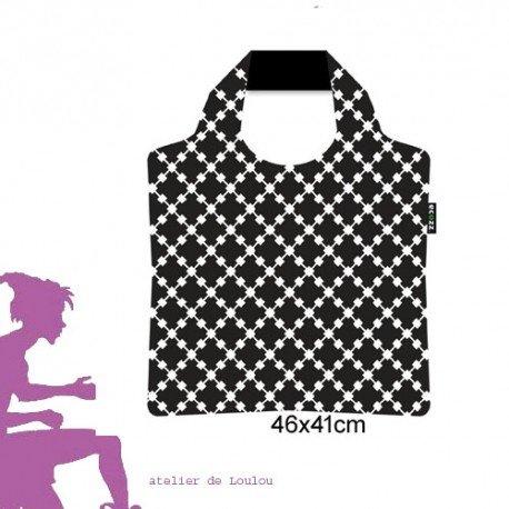 sac pliable ECOZZ | black white bag | sac homme